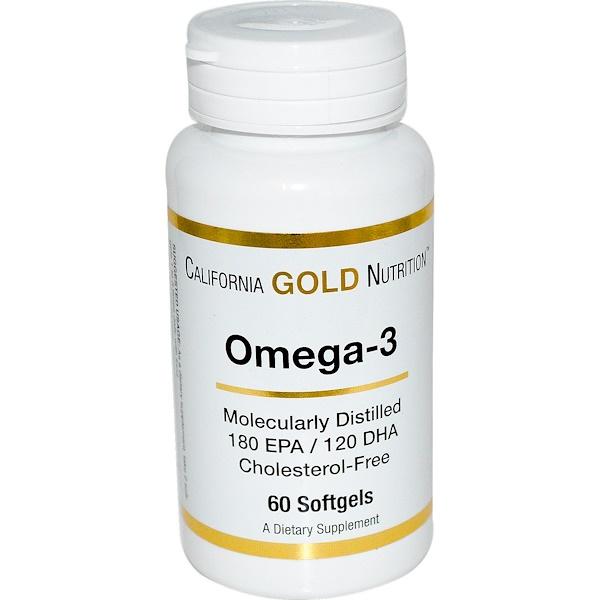 California Gold Nutrition, Omega-3, 60 Softgels (Discontinued Item)