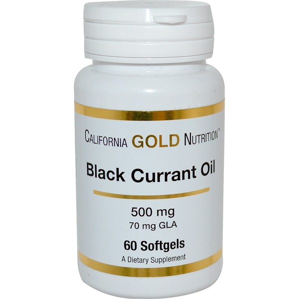 California Gold Nutrition, Black Currant Oil, 500 mg, 60 Softgels (Discontinued Item)