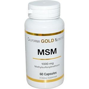 California Gold Nutrition, MSM, 1000 mg, 60 Capsules отзывы