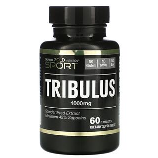 California Gold Nutrition, Tribulus, Standardized Extract, Minimum 45% Saponins, 1,000 mg, 60 Tablets