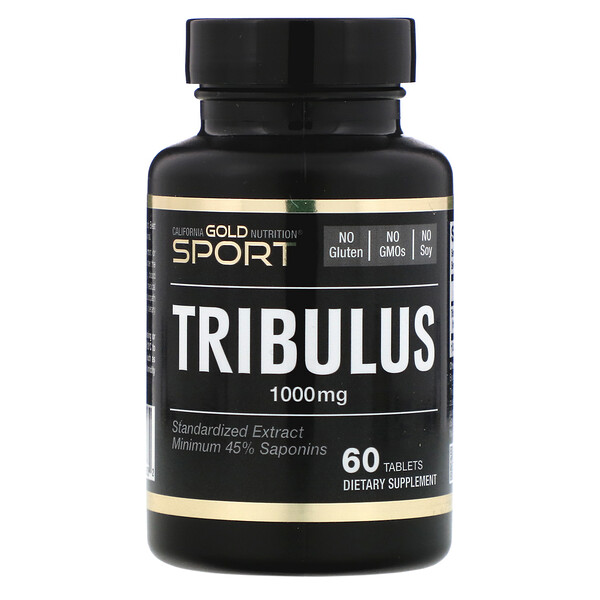 Tribule, Extrait standardisé, 45 % de saponine minimum, 1000 mg, 60 comprimés