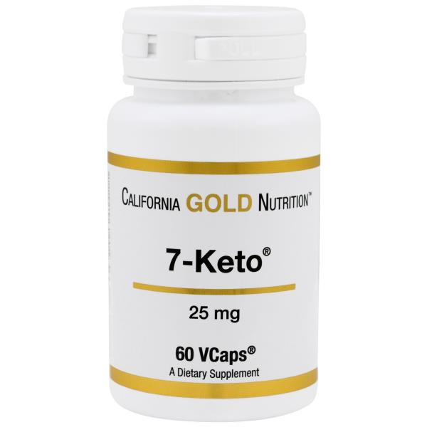 California Gold Nutrition, 7-Keto, 25 mg, 60 VCaps