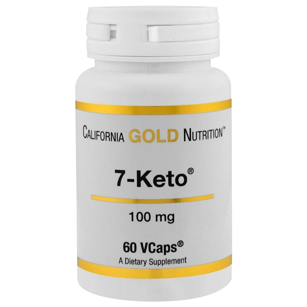 California Gold Nutrition, 7 Keto, 100 mg, 60 VCaps (Discontinued Item)