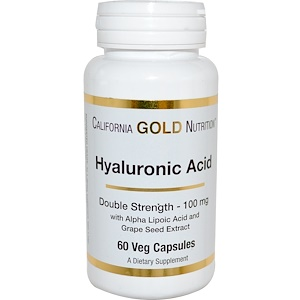 California Gold Nutrition, Hyaluronic Acid, 100 mg, 60 Veggie Caps отзывы