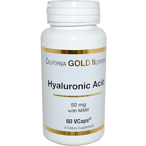 California Gold Nutrition, Hyaluronic Acid, with MSM, 50 mg, 60 VCaps отзывы