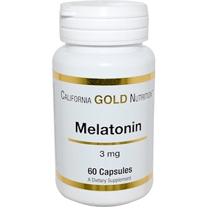 California Gold Nutrition, Melatonin, 3 mg, 60 Capsules отзывы