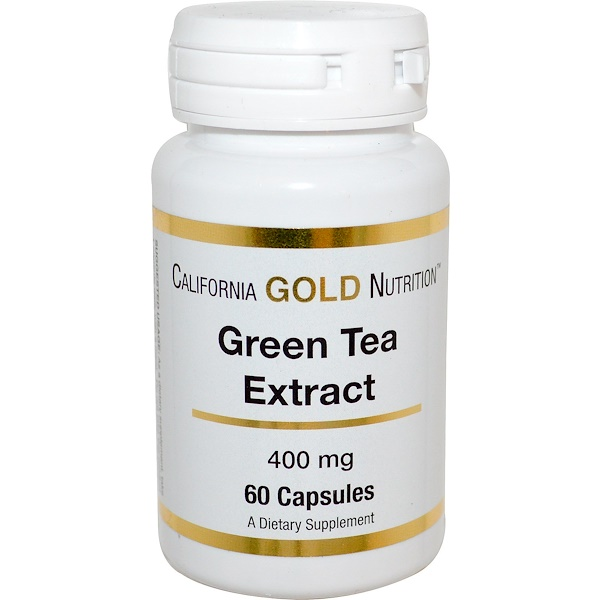 California Gold Nutrition, Green Tea Extract, 400 mg, 60 Capsules (Discontinued Item)