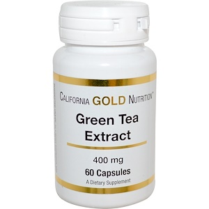 California Gold Nutrition, Green Tea Extract, 400 mg, 60 Capsules отзывы