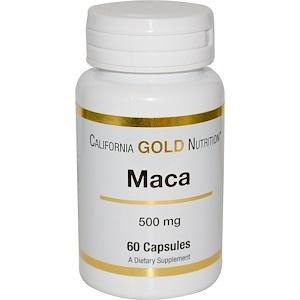California Gold Nutrition, Maca, 500 mg, 60 Capsules отзывы
