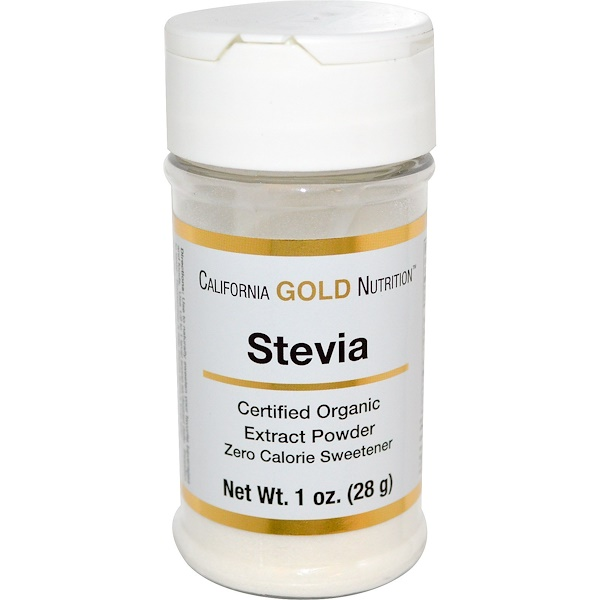California Gold Nutrition, Certified Organic, Stevia, 1 oz (28 g) (Discontinued Item)