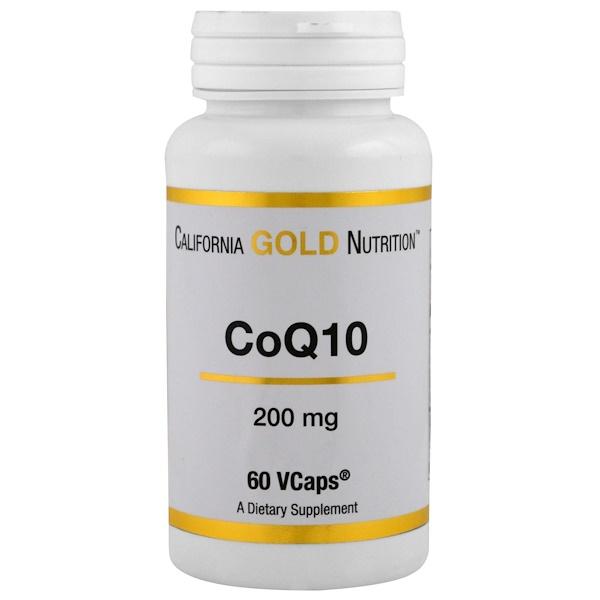 California Gold Nutrition, CoQ10(コエンザイムQ10) 200mg ベジタブルカプセル60錠 (Discontinued Item)