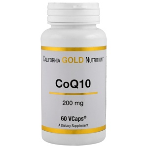 California Gold Nutrition, CoQ10, 200 mg, 60 VCaps отзывы