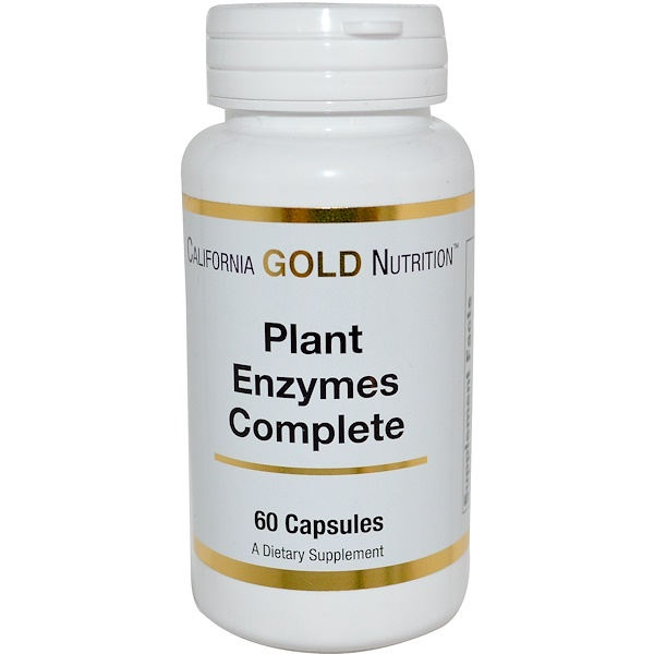 California Gold Nutrition, Plant Enzymes Complete , 60 Capsules (Discontinued Item)