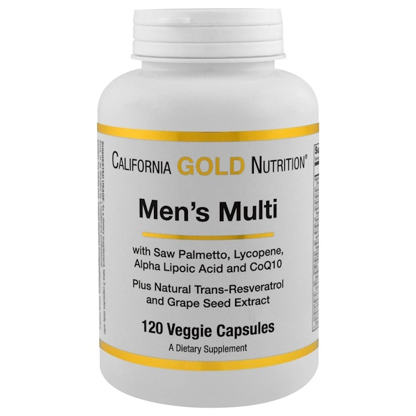 California Gold Nutrition, メンズ・マル、ベジキャップ120 錠 (Discontinued Item)