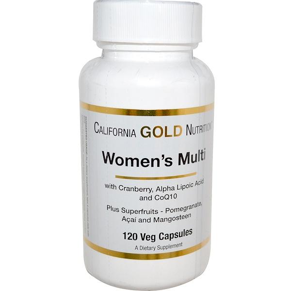 California Gold Nutrition, Женский мультивитамин, 120 растительных капсул (Discontinued Item)