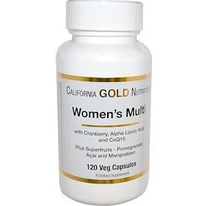 California Gold Nutrition, Women's Multi, 120 Veggie Caps отзывы