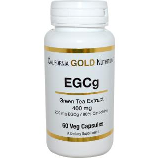 California Gold Nutrition, EGCg, Green Tea Extract, 400 mg, 60 Veggie Caps