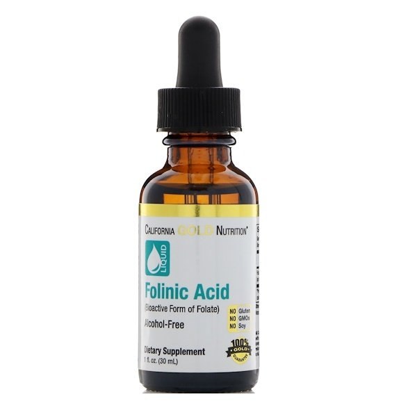 California Gold Nutrition, Acide Folique, Sans Alcool, 30 ml (1 fl oz)