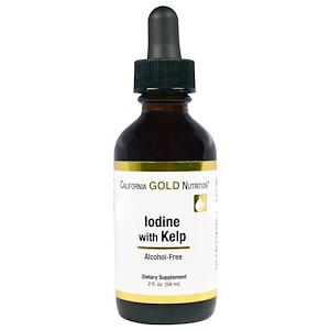 California Gold Nutrition, Iodine with Kelp, 2 fl oz (59 ml) отзывы