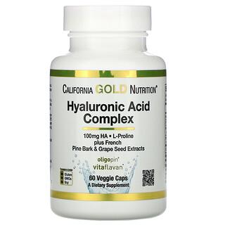 California Gold Nutrition, Hyaluronic Acid Complex, Hyaluronsäure-Komplex, 60vegetarische Kapseln