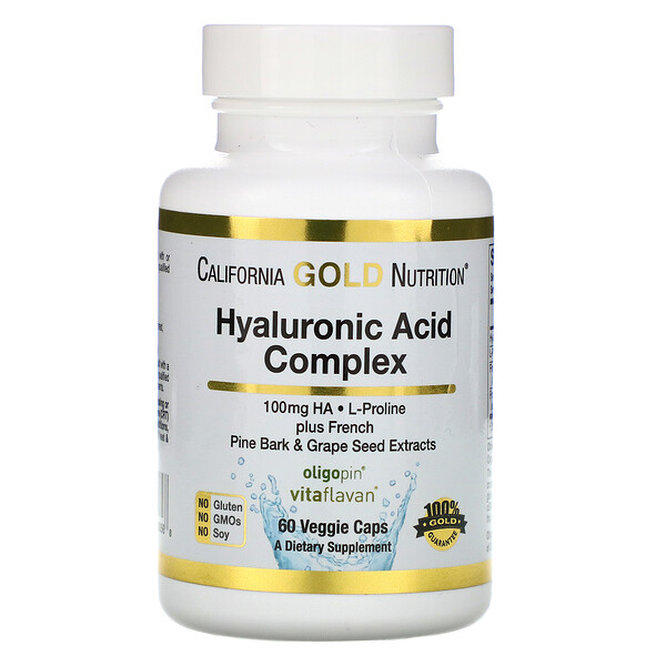 California Gold Nutrition, Hyaluronic Acid Complex, 60 Veggie Capsules