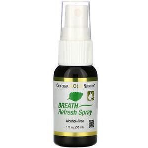 California Gold Nutrition, Breath Refresh Spray, Natural Peppermint, Alcohol-Free, 1 fl oz (30 ml) отзывы покупателей