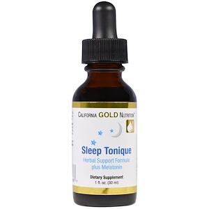 California Gold Nutrition, Sleep Tonique, Herbal Support Formula plus Melatonin, 1 fl oz (30 ml) отзывы