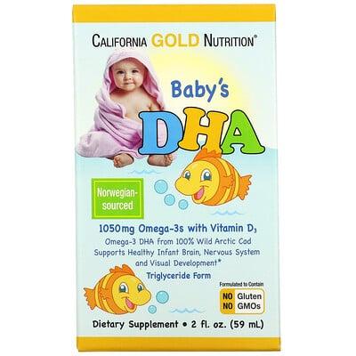 Купить California Gold Nutrition ДГК для детей, Омега-3 с витаминомD3, 1050мг, 59мл (2жидк. унции)