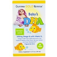 California Gold Nutrition, DHA für Babys, 1050 mg, Omega-3s mit Vitamin D3, 2 fl oz (59 ml)