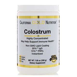 California Gold Nutrition, Colostrum, Highly Concentrated, Instantized, rBST-free, 7.05 oz (200 g)