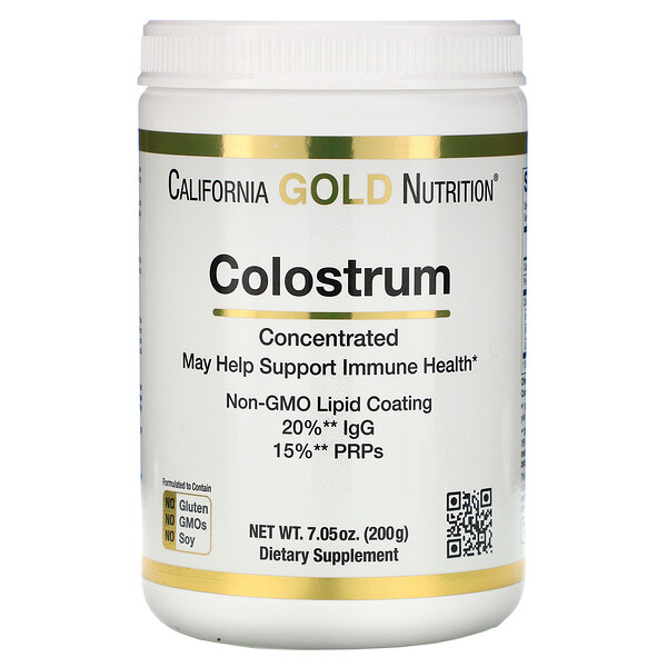 California Gold Nutrition, Colostrum Powder, Concentrated, 7.05 oz (200 g)