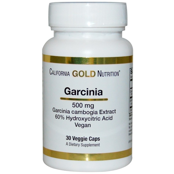 California Gold Nutrition, Garcinia Cambogia, 500 mg, 30 Veggie Caps (Discontinued Item)