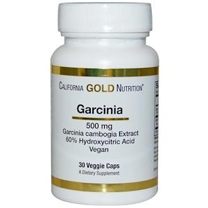 California Gold Nutrition, Garcinia Cambogia, 500 mg, 30 Veggie Caps отзывы покупателей