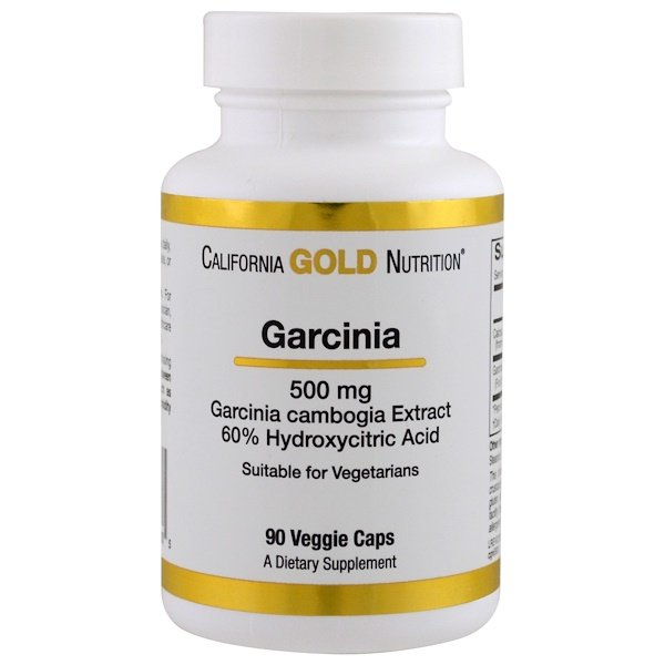 California Gold Nutrition, Garcinia Cambogia, 500 mg, 90 Veggie Caps (Discontinued Item)