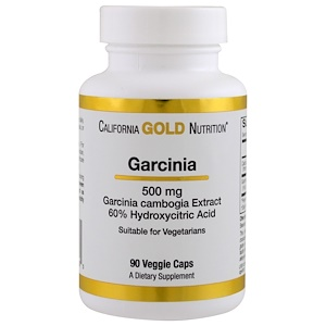 California Gold Nutrition, Garcinia Cambogia, 500 mg, 90 Veggie Caps отзывы покупателей