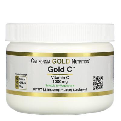 California Gold Nutrition Gold C Powder, витаминC, 1000мг, 250г (8,81унции)