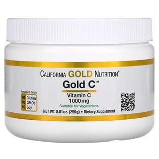California Gold Nutrition, Gold C Powder, Vitamin-C-Pulver, 1.000mg, 250g (8,81oz.)