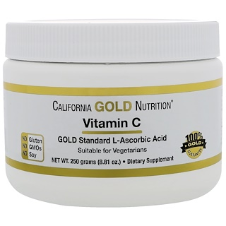 California Gold Nutrition, ビタミンC、8.81 oz (250 g)