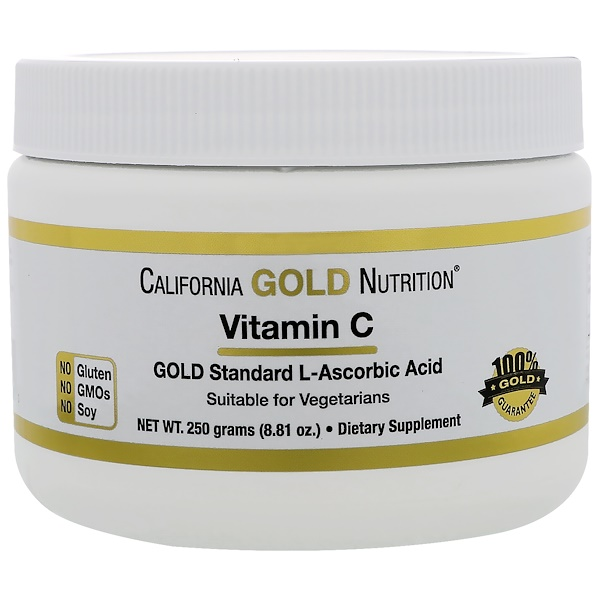 California Gold Nutrition, ビタミンC、8.81 oz (250 g)