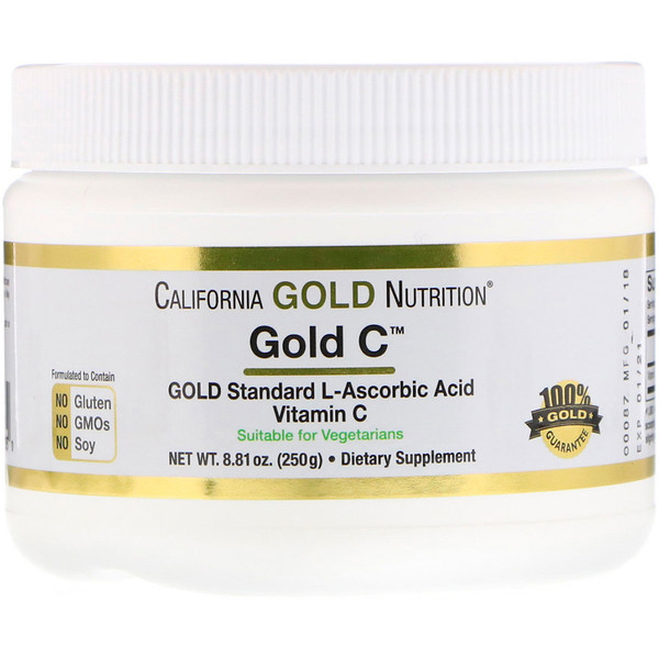 California Gold Nutrition, Gold C-Pulver, 250 g (8,81 oz.)