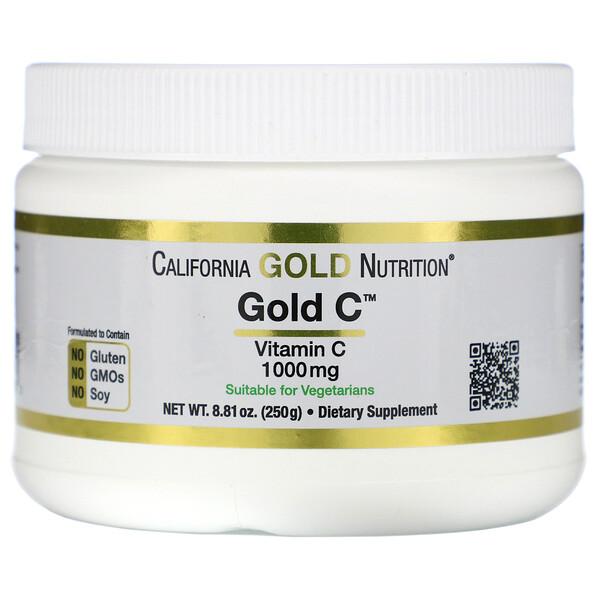 California Gold Nutrition, ゴールドCパウダー、250 g(8.81 oz)