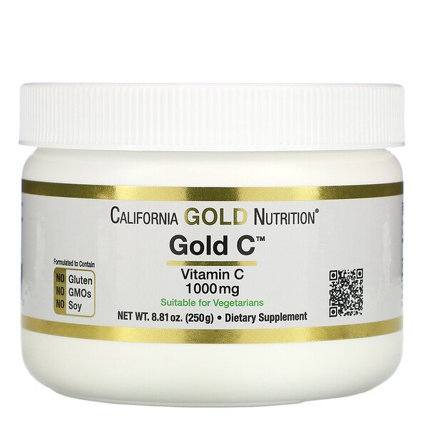 California Gold Nutrition, 黃金維生素 C 粉、維生素 C,1000 毫克,8.81 盎司(250 克)