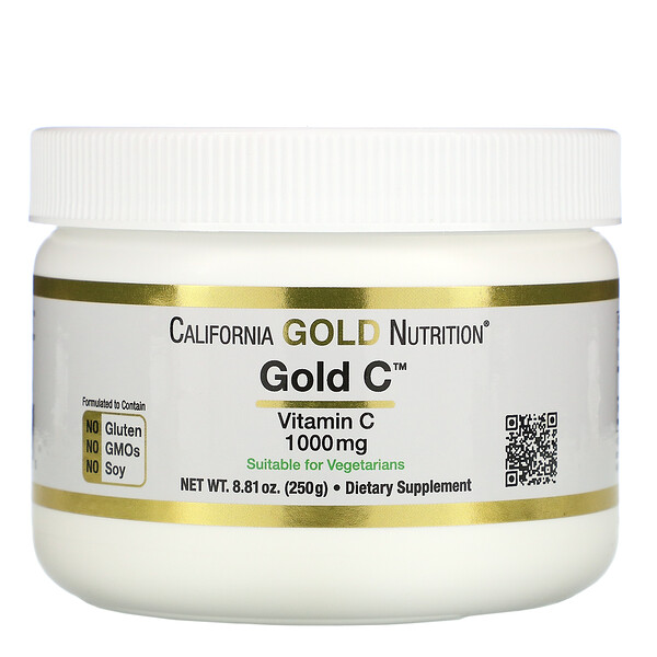 California Gold Nutrition, Gold C Powder, Vitamin C, 1,000 mg, 8.81 oz (250 g)