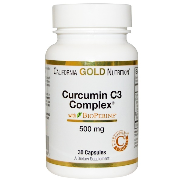 California Gold Nutrition, Curcumin C3 Complex, 500 mg, 30 Veggie Caps (Discontinued Item)