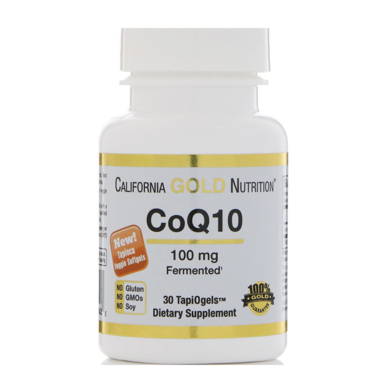 California Gold Nutrition, CoQ10, 100 мг, 30 TapiOgels