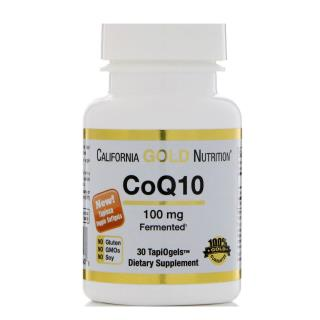 California Gold Nutrition, CoQ10, 100 mg, 30 TapiOgels