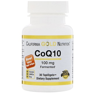 California Gold Nutrition, CoQ10, TapiOgels, 100 mg, 30 geles vegetales de tapioca