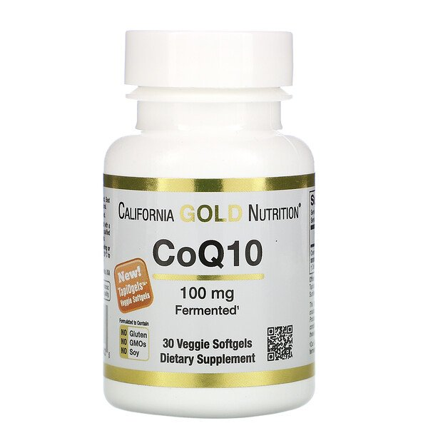 California Gold Nutrition, CoQ10, 100 mg, 30 cápsulas blandas vegetales