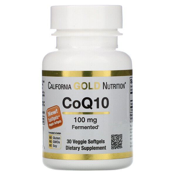 California Gold Nutrition, CoQ10, 100 mg, 30 vegetarische Softgel-Kapseln