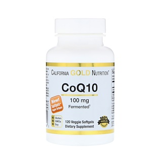 California Gold Nutrition, CoQ10, 100 mg, 120 TapiOgels